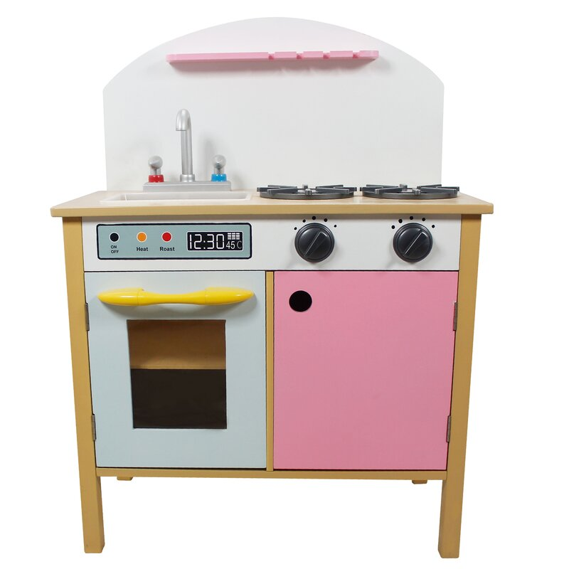 Teamson Kids Pretend Play Pink Kitchen & Reviews | Wayfair