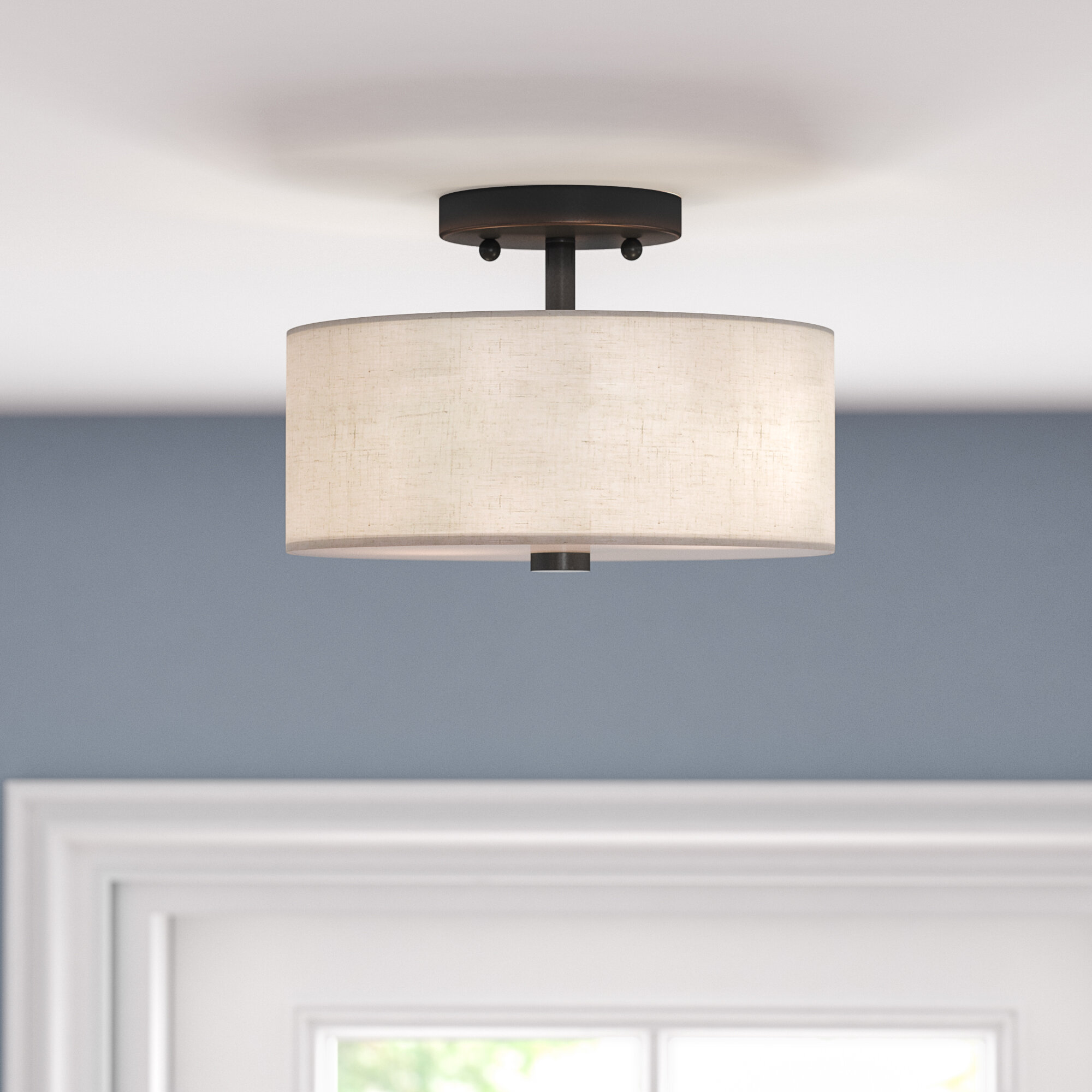 Ivy Bronx Alina 2-Light Semi Flush Mount & Reviews | Wayfair