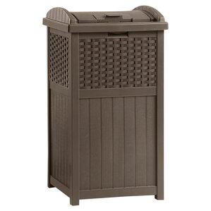 mocha patio trash can