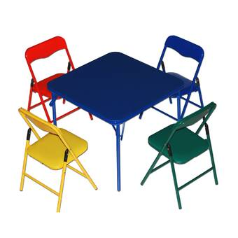 3412ef88240 Ogallala Kids  5 Piece Rectangular Table and Chair Set   Reviews ...