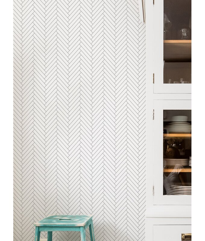 Mckillip Herringbone 4 L X 24 W Tile And Stick Wallpaper Roll