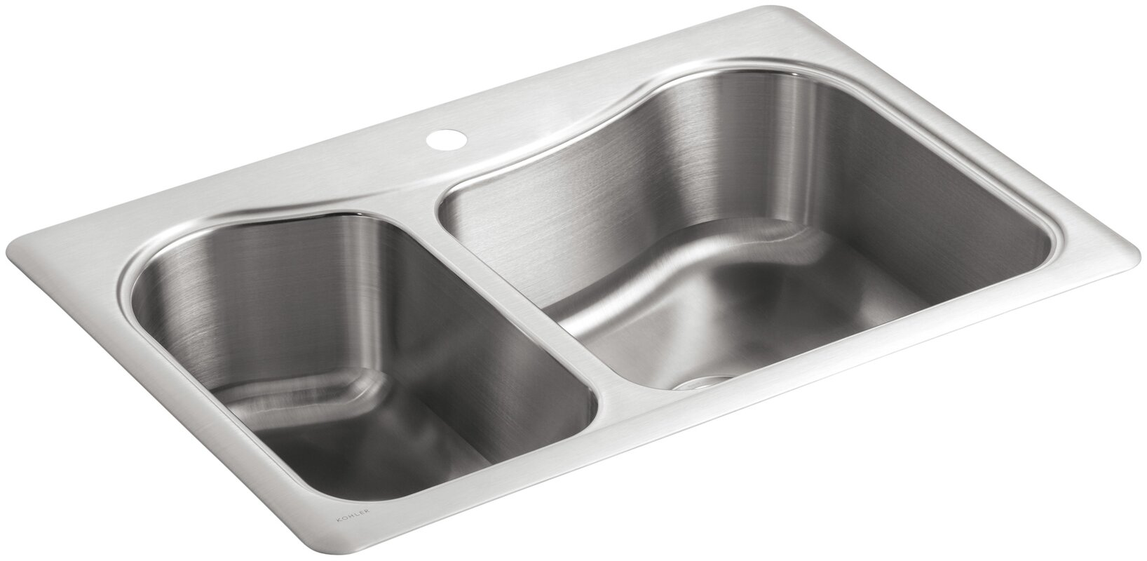 Single Or Double Bowl Kitchen Sink K 3361 1 na kohler staccato 33 x 22 x 8 516 top mount large staccato 33 x 22 x 8 516 top mount workwithnaturefo