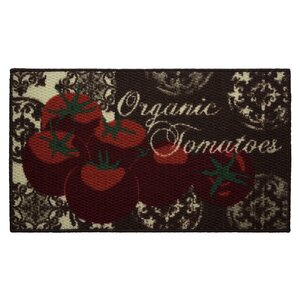 Textured Loop Tomatoes Kitchen Area Rug