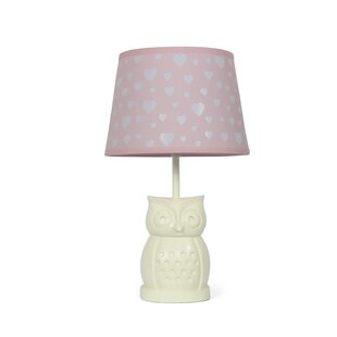 Owl table lamps wayfair owl peek a boo heart 165 table lamp mozeypictures Choice Image