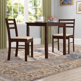 Loretta Pilaster Designs 3 Piece Dining Set