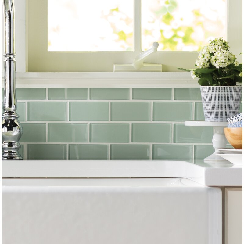 Favorite MSI Crystallized 2'' x 4'' Glass Mosaic Tile in Arctic Ice White  IE02