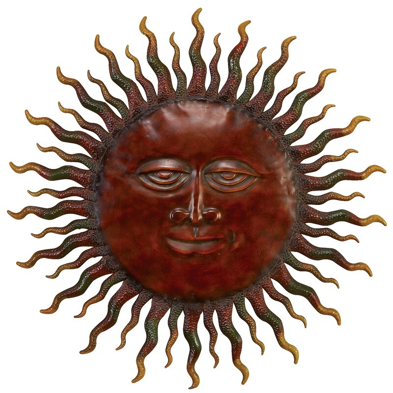 red barrel studio wanddekoration sun aus metall bewertungen. Black Bedroom Furniture Sets. Home Design Ideas