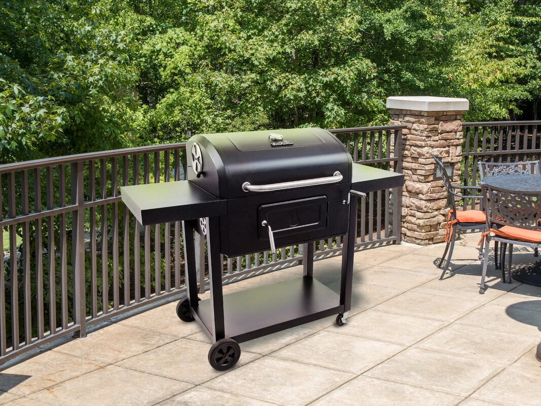 charbroil charcoal grill 780 with side shelves u0026 reviews wayfair