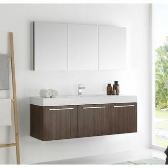 Tremendous Fresca Senza 48 Vista Double Wall Mounted Modern Bathroom Interior Design Ideas Gentotryabchikinfo
