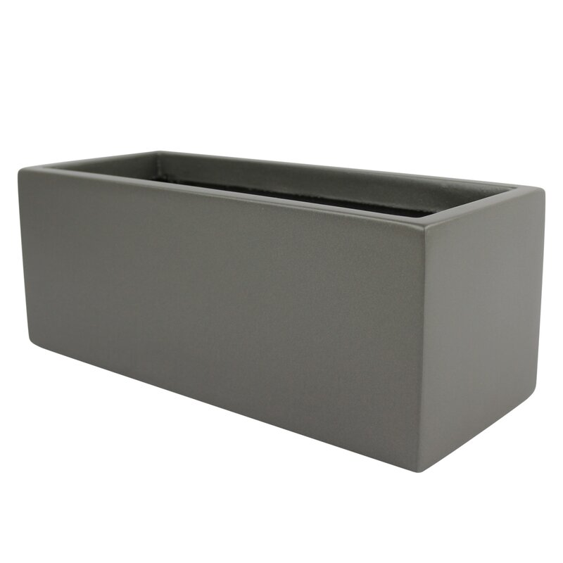 Root And Stock Belmont Rectangle Fiberglass Planter Box