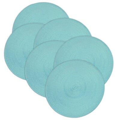 Birch Lane™ Heritage Round Braided Placemats Color: Aruba Blue