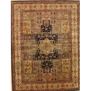 Agra Hand-Knotted Navy/Gold Area Rug