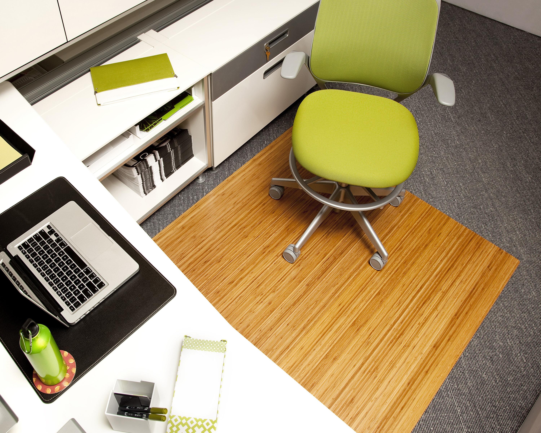 Symple Stuff Bamboo Rectangular fice Chair Mat & Reviews