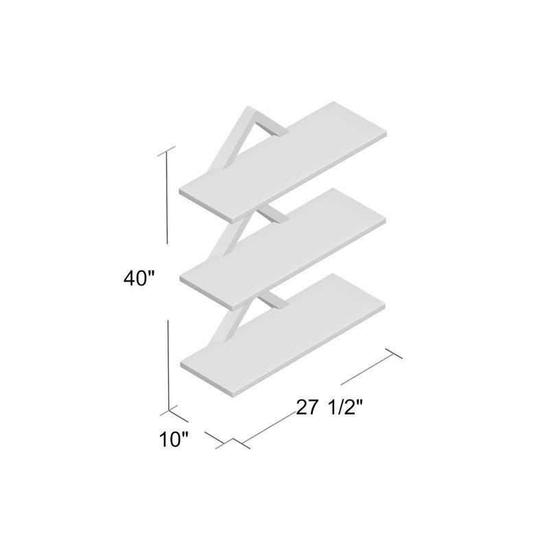 Dehaan Diamonds 3 Level Wall Shelf