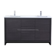 remmers 60 double sink modern bathroom vanity