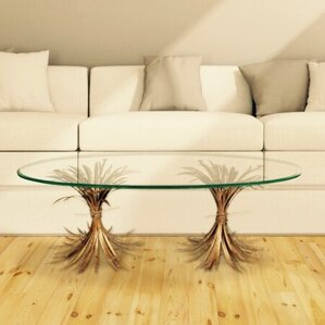 wheat gold antique coffee table