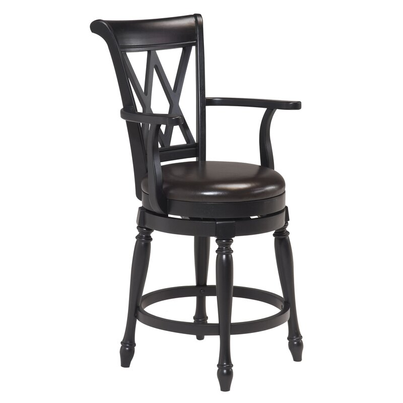 Gironde 24 Swivel Bar Stool With Cushion