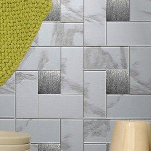 12u0027u0027 X 12u0027u0027 Metal Peel U0026 Stick Mosaic Tile In Faux White Marble