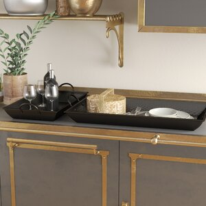 Ariele Rectangle 2 Piece Serving Tray