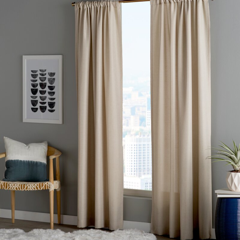 entry way table pennington solid sheer rod pocket curtain panels amp reviews 29975