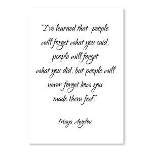 Maya Angelou Textual Art