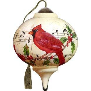 Caroling Cardinal Shaped Ornament