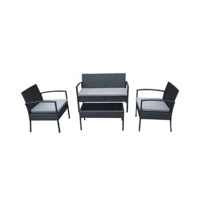 4-tlg. Sofa-Set mit Kissen von MMT Furniture