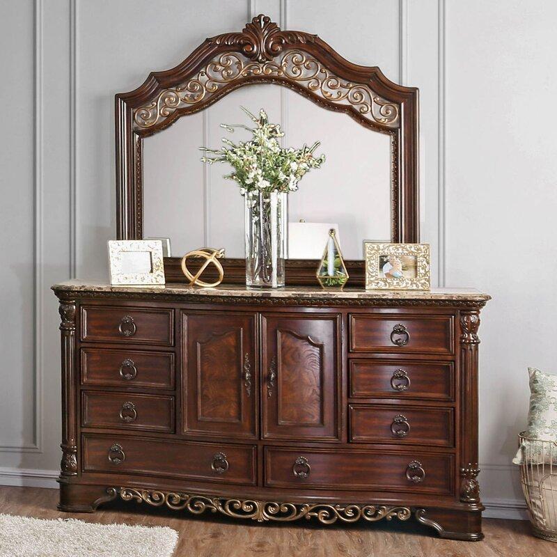 Fleur De Lis Living Caulfield 8 Drawer Combo Dresser Wayfair