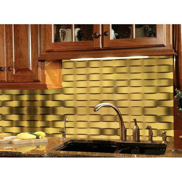 Ebern Designs Lattice PVC Backsplash Tiles Kitchen Bathroom Shower ...
