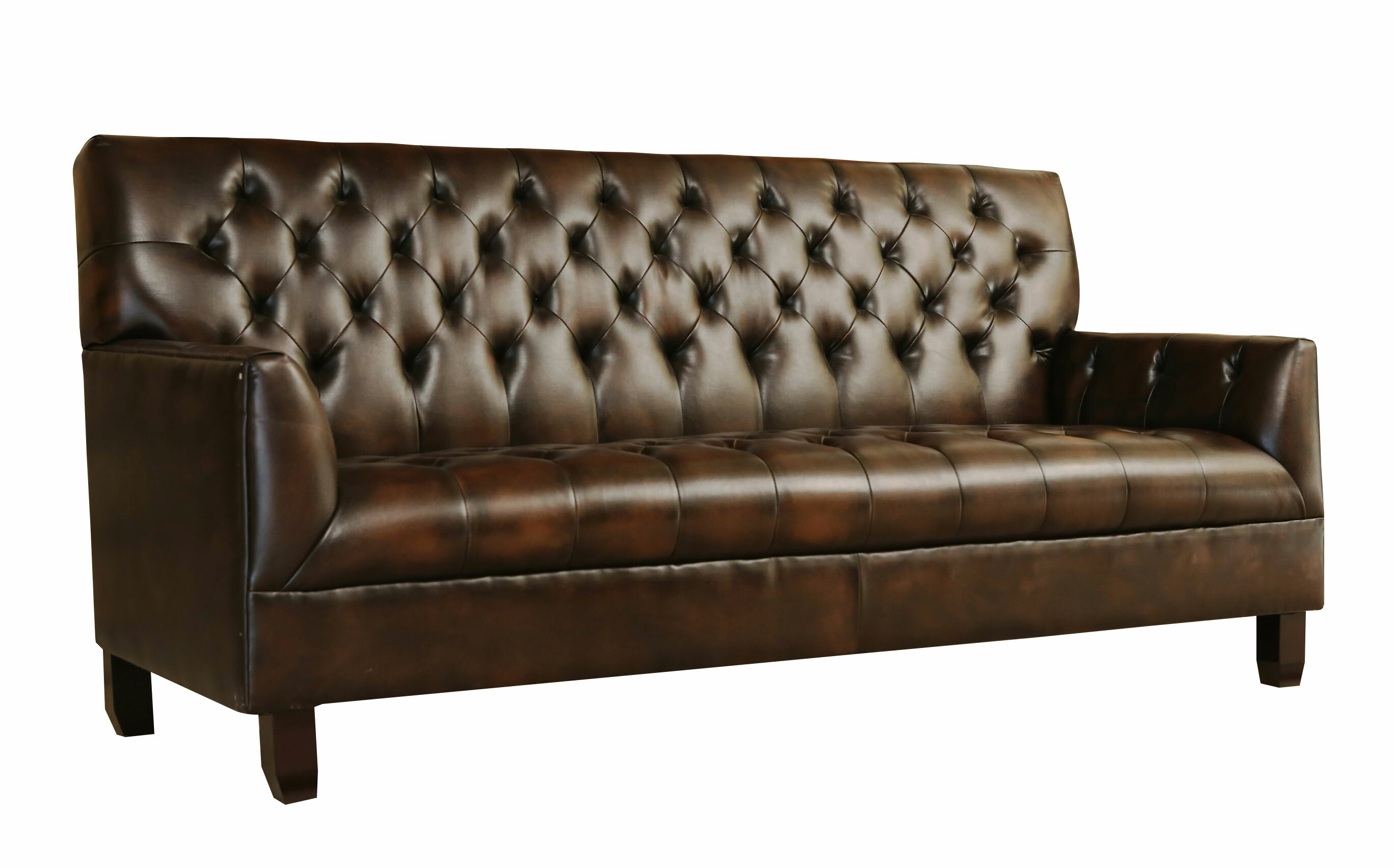 Trent Austin Design Wapiti Ridge Bonded Leather Sofa U0026 Reviews | Wayfair