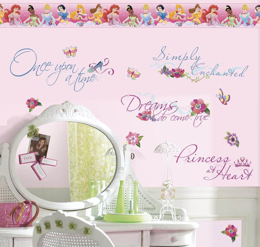 Disney Princess Quotes Room Makeover Wall Decal
