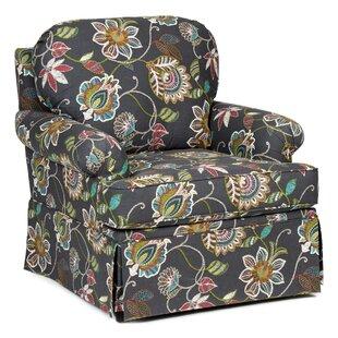 Harlen Upholstered Swivel Rocker Armchair