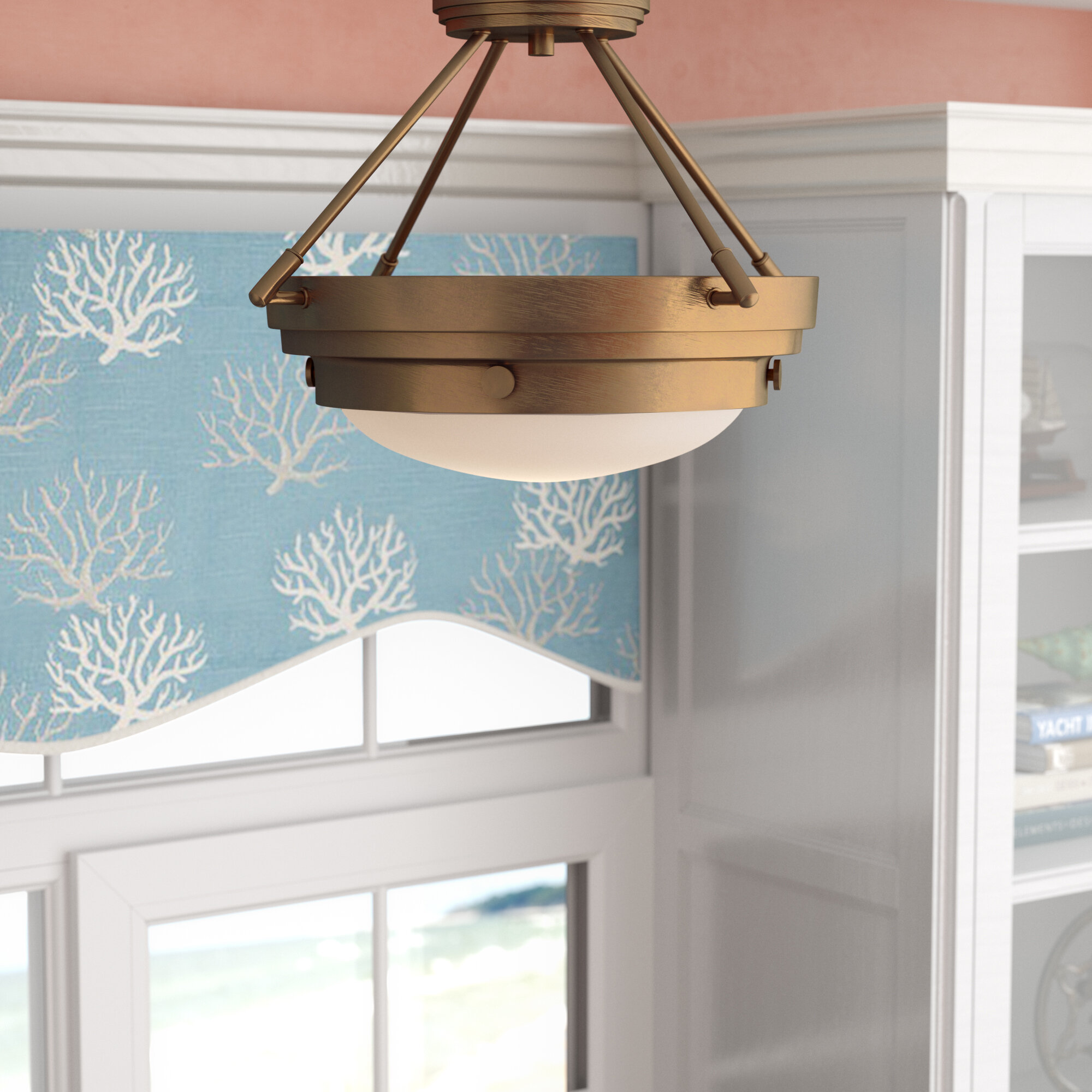Beachcrest Home Aralene 3-Light Semi-Flush Mount & Reviews | Wayfair