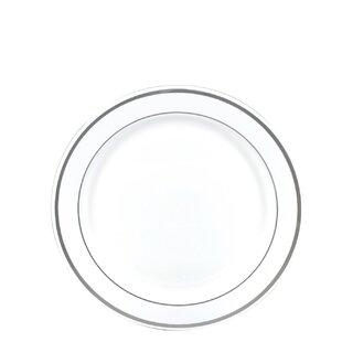 Premium Reusable Heavyweight Plastic Salad Plate (Set of 576)  sc 1 st  Wayfair & Reusable Plastic Plates | Wayfair