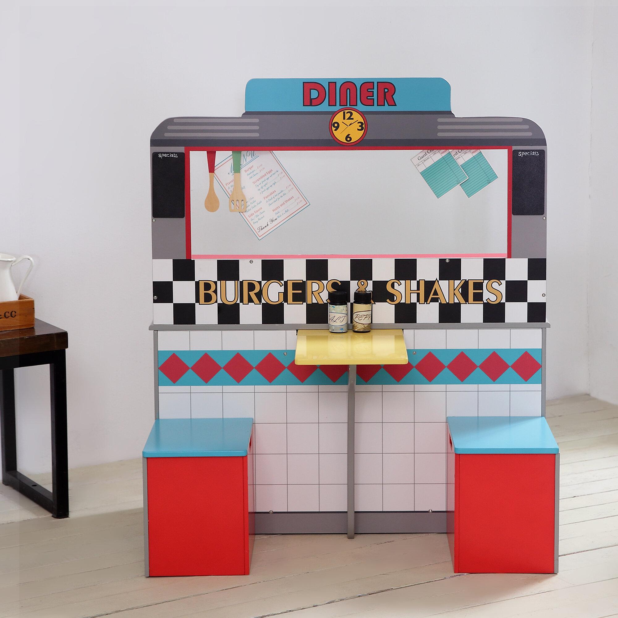 Teamson Kids 14 Piece Brooklyn Diner Play Kitchen Set | Wayfair