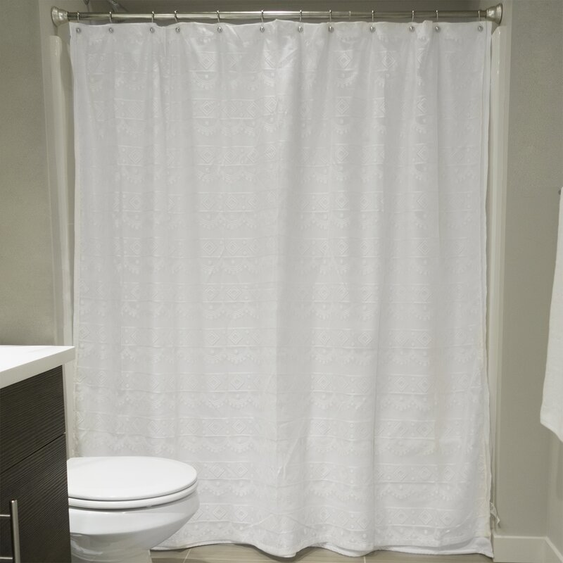 Camile Lace Shower Curtain