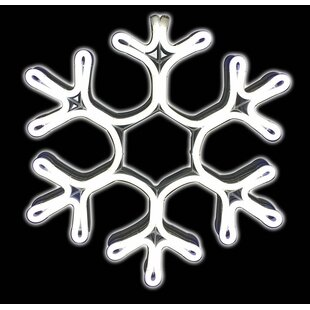 Metal Neon Snowflake Christmas Decoration Lighted Display