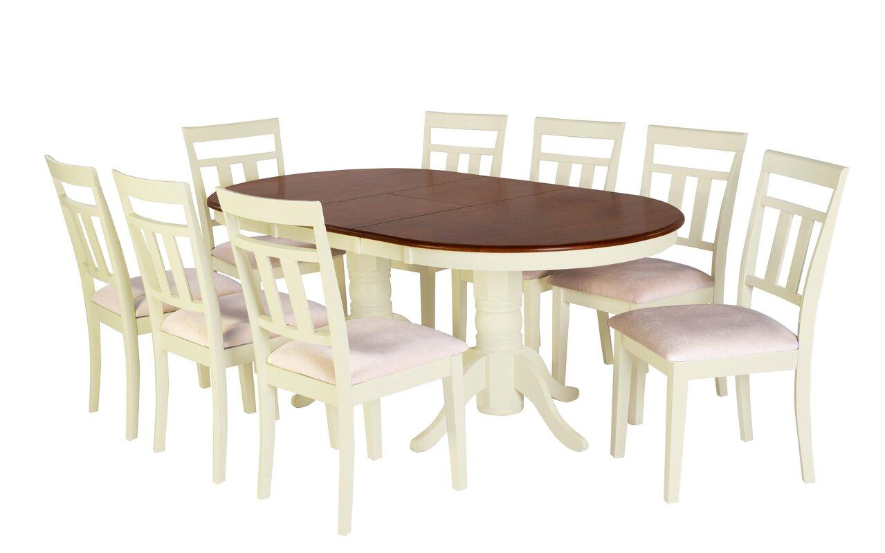Beautiful 9 Piece Drop Leaf Dining Set