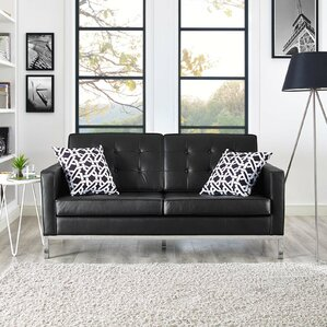 Gayatri Leather Loveseat by Orren Ellis