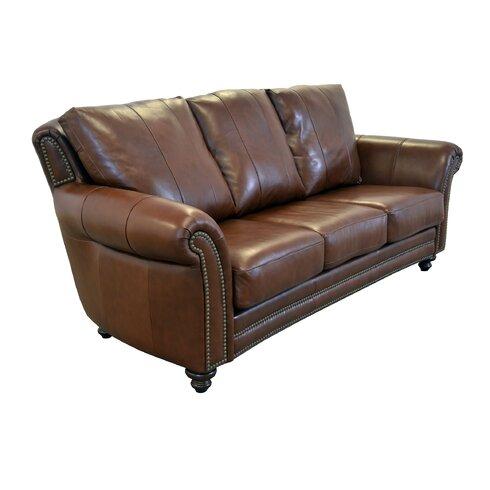 Westland And Birch Clinton Genuine Top Grain Leather Sofa Wayfair