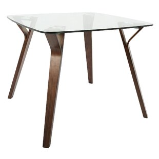 thornton mid century modern dining table - Square Dining Table