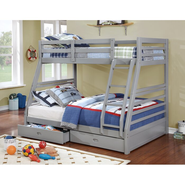 max grey over finish home twin solid lily beds in bed ladder bunk wood full