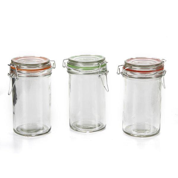 Clear Glass Jars With Lids Set Wayfair