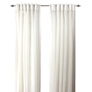 White Back Tab Curtains