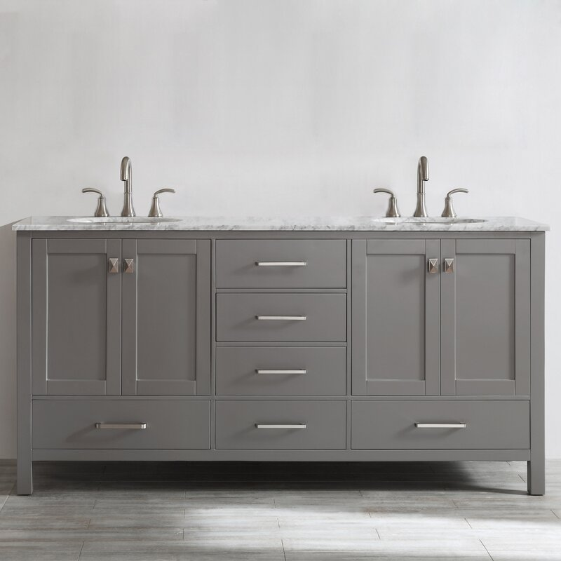 Beachcrest Home Newtown 72 Double Bathroom Vanity Set Reviews Wayfair