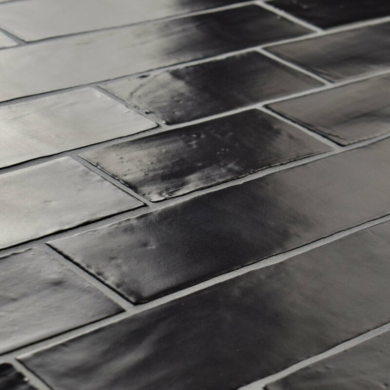 Tivoli 3 X 6 Ceramic Subway Tile In Matte Black