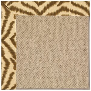 Zoe Machine Tufted Tawny and Beige Indoor/Outdoor Area Rug