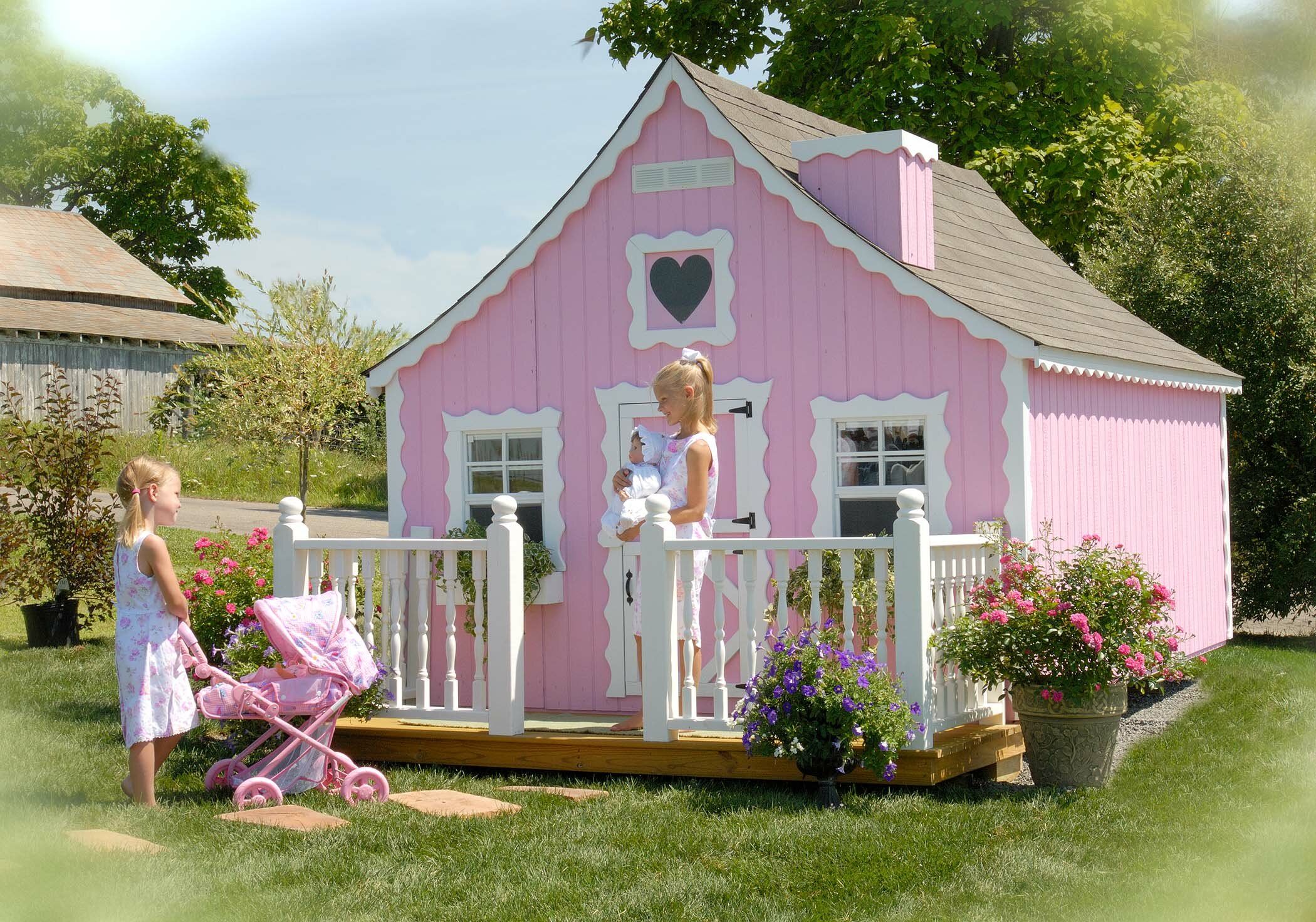 Little cottage company gingerbread diy kit playhouse - Cabane de jardin enfant bois ...