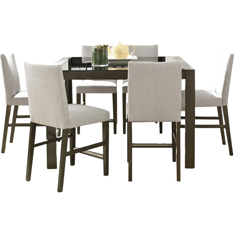 7 Piece Counter Height Dining Room Sets: Wade Logan Girard 7 Piece Counter Height Dining Set