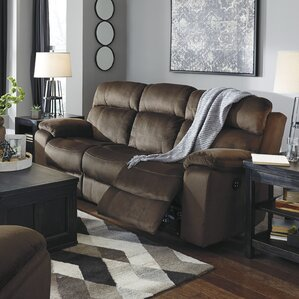 Bayat Power Adjustable Headrest Reclining Sofa by Loon Peak
